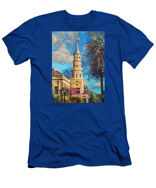 Men's T-Shirt (Athletic Fit) featuring the painting The Heart Of Charleston by Jennifer Hotai