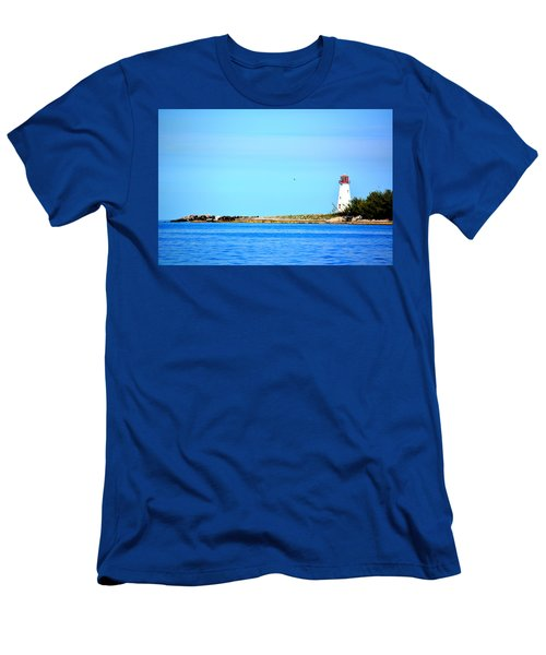 The Lighthouse At Sea Men's T-Shirt (Athletic Fit)