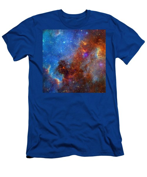 Men's T-Shirt (Slim Fit) featuring the photograph The North America Nebula In Different Lights by NASA JPL - Caltech