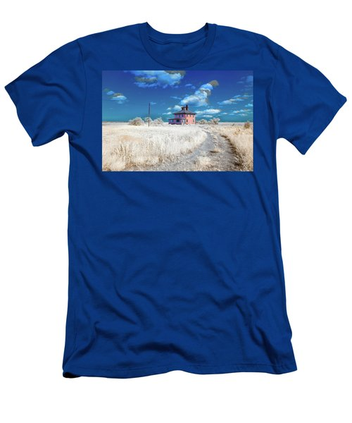 Men's T-Shirt (Athletic Fit) featuring the photograph The Pink House In Halespectrum 2 by Brian Hale