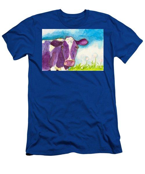 The Purple Cow Men's T-Shirt (Slim Fit) by Whitney Morton
