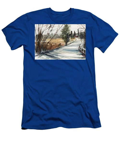 The Road Home Men's T-Shirt (Slim Fit) by Judith Levins