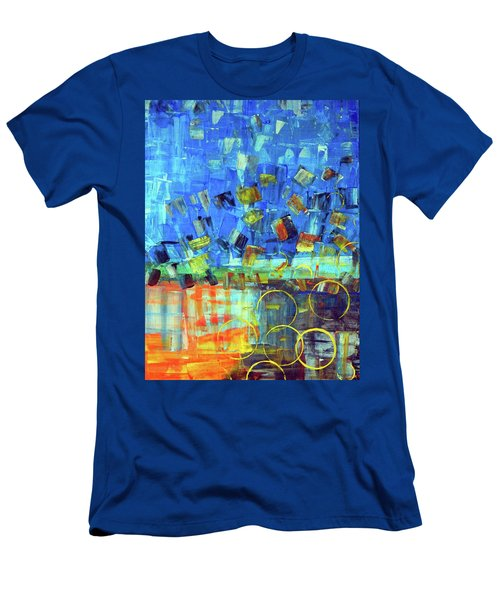 Men's T-Shirt (Slim Fit) featuring the painting The Sky Fell by Everette McMahan jr
