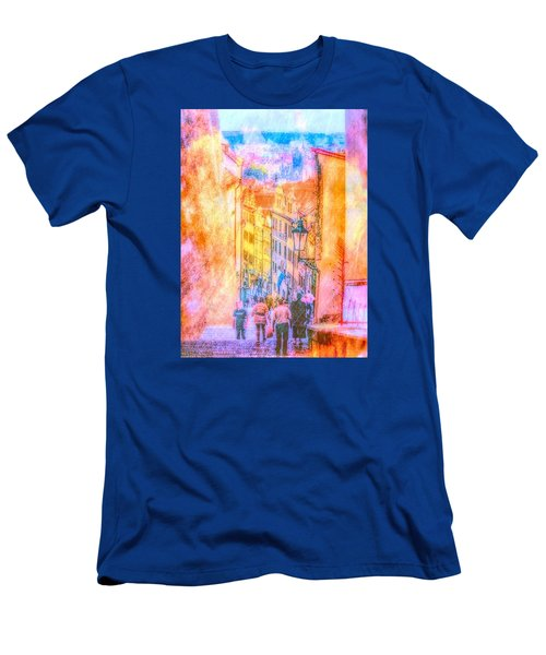 The Streets Of Prague Men's T-Shirt (Slim Fit) by Andreas Thust