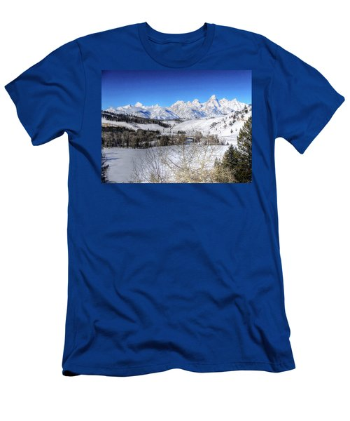 The Tetons From Gros Ventre Valley Men's T-Shirt (Athletic Fit)