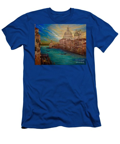 The Venice Of My Recollection With Digital Enhancement Men's T-Shirt (Slim Fit) by Kimberlee Baxter