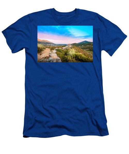 The Walls Of Ancient Messene - Greece. Men's T-Shirt (Slim Fit) by Stavros Argyropoulos