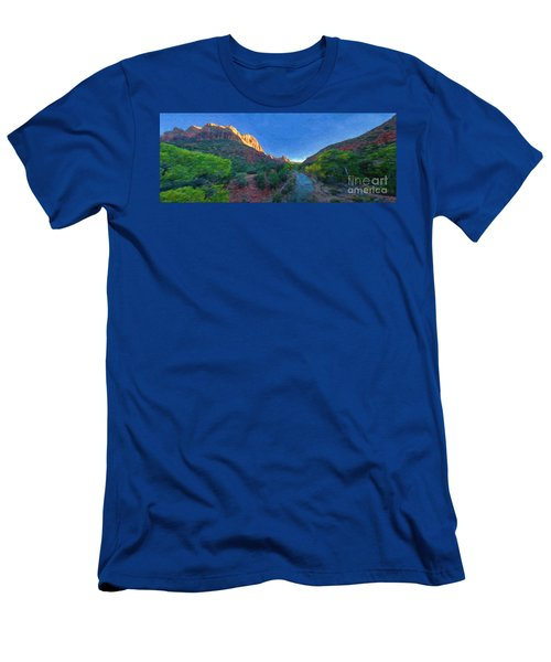 The Watchman Zion National Park Men's T-Shirt (Athletic Fit)