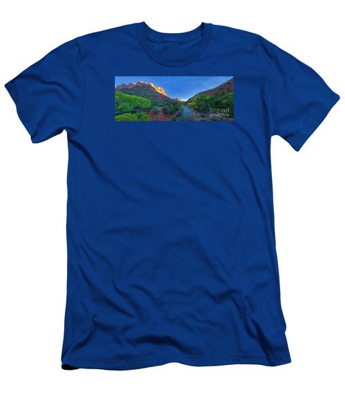 The Watchman Zion National Park Men's T-Shirt (Athletic Fit)