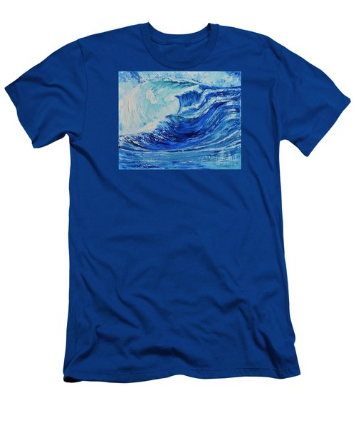 Men's T-Shirt (Slim Fit) featuring the painting The Wave by Teresa Wegrzyn
