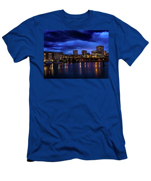 Thea Foss Waterway Storm Brewing Men's T-Shirt (Athletic Fit)