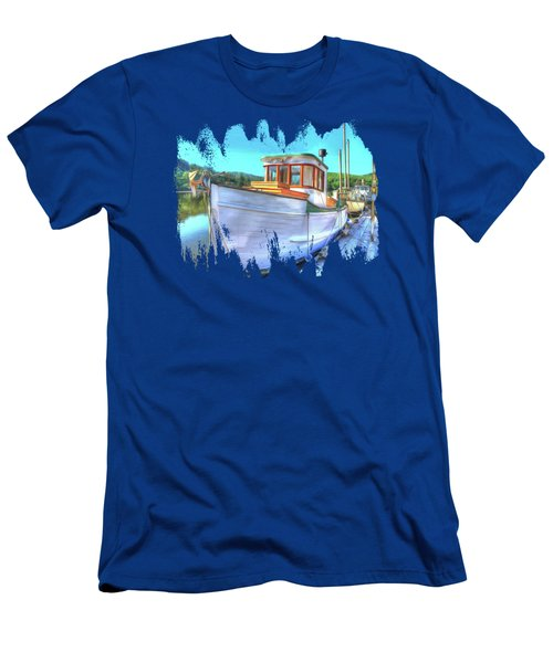 Thee Old Dragger Boat Men's T-Shirt (Athletic Fit)