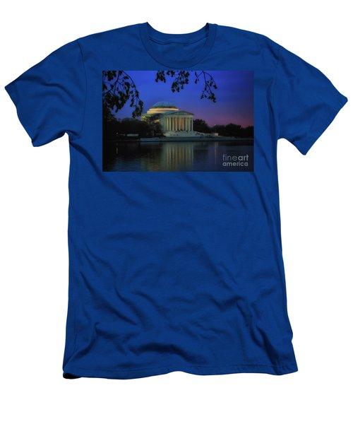 Thomas Jefferson Memorial Sunset Men's T-Shirt (Slim Fit) by Elizabeth Dow