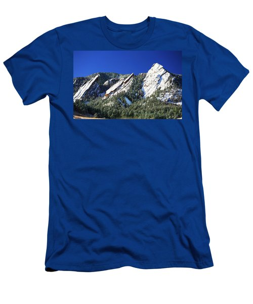 Three Flatirons Men's T-Shirt (Slim Fit) by Marilyn Hunt