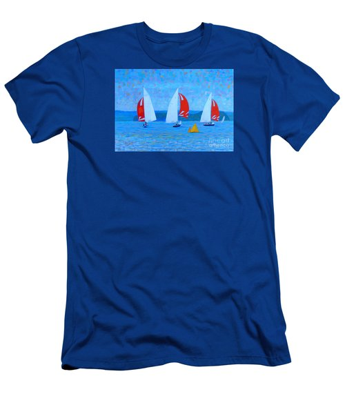 Three Red Sails  Men's T-Shirt (Slim Fit) by Rae  Smith