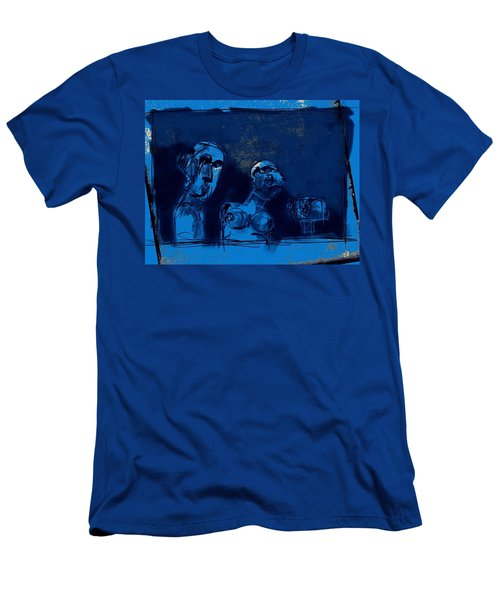 Through The Blue Window Men's T-Shirt (Slim Fit) by Jim Vance