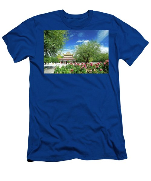 Men's T-Shirt (Athletic Fit) featuring the photograph Tibet Scenery In Autumn by Carl Ning