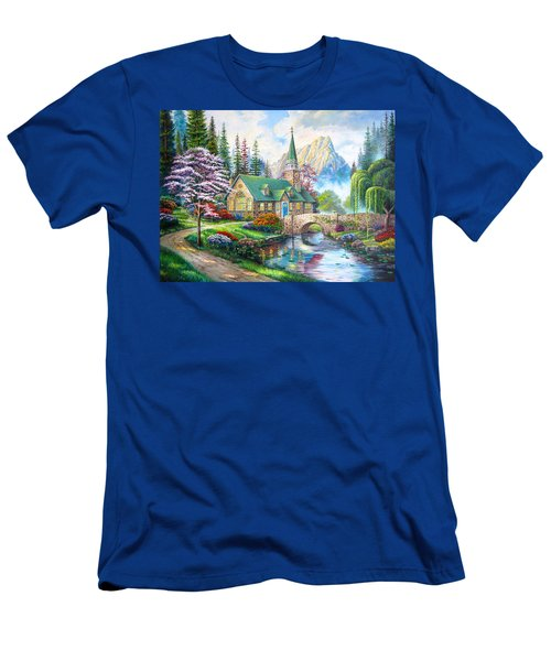 Time To Come Home Men's T-Shirt (Slim Fit) by Karen Showell