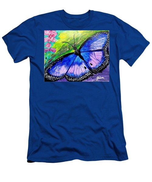 Titanium Butterfly Men's T-Shirt (Athletic Fit)