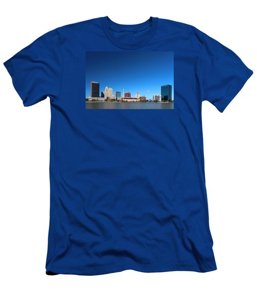 Men's T-Shirt (Slim Fit) featuring the photograph Toledo Skyline I by Michiale Schneider
