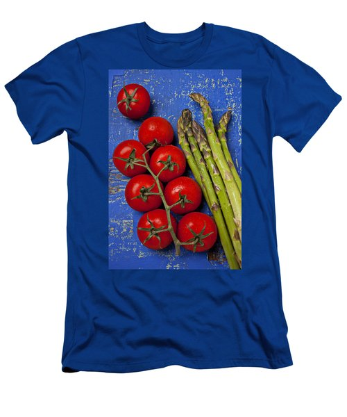 Tomatoes And Asparagus  Men's T-Shirt (Slim Fit) by Garry Gay