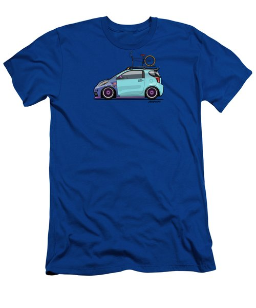 Toyota Scion Iq Slammed With Bmx Bike Men's T-Shirt (Athletic Fit)