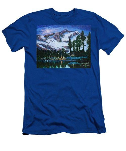 Trails West II Men's T-Shirt (Slim Fit) by Michael Frank