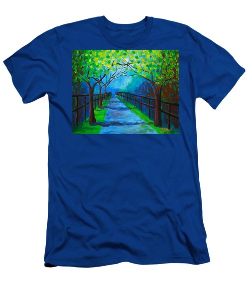 Tree Lined Fence Men's T-Shirt (Athletic Fit)