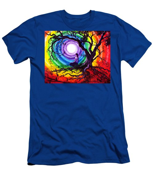 Tree Of Life Meditation Men's T-Shirt (Slim Fit) by Laura Iverson