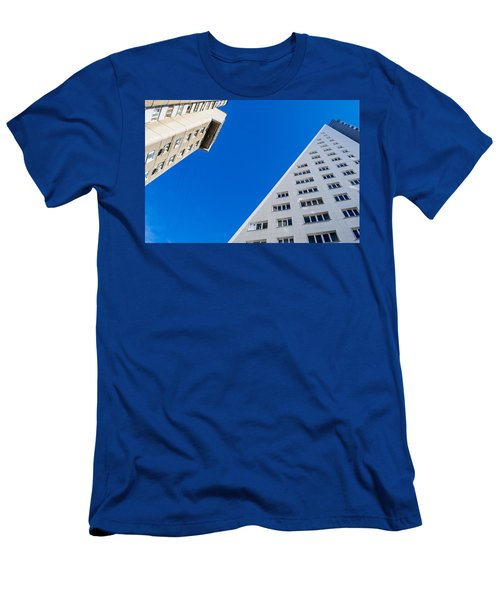 Men's T-Shirt (Slim Fit) featuring the photograph Triangle Modern Building by John Williams