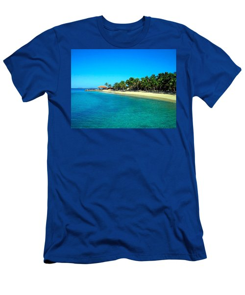 Tropical Bliss Men's T-Shirt (Slim Fit) by Betty Buller Whitehead