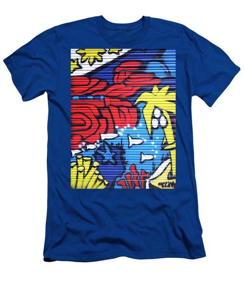 Tropical Graffiti Men's T-Shirt (Athletic Fit)