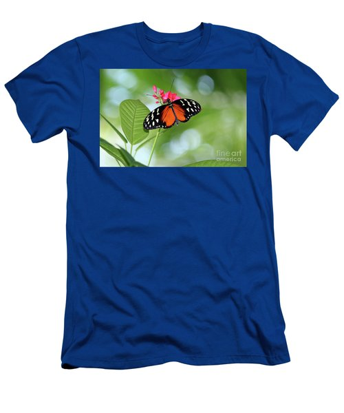 Tropical Hecale Butterfly Men's T-Shirt (Athletic Fit)