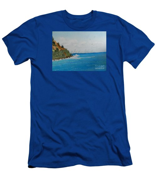 Tropical Paradise Men's T-Shirt (Athletic Fit)