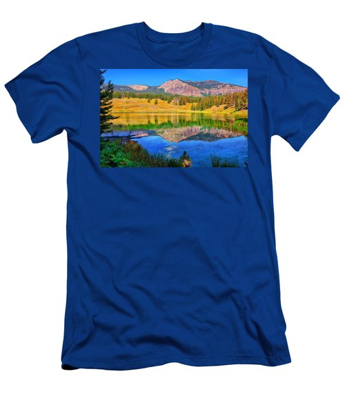 Trout Lake Men's T-Shirt (Slim Fit) by Greg Norrell