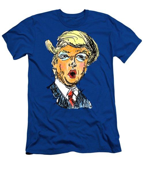 Trump Men's T-Shirt (Slim Fit) by Robert Yaeger