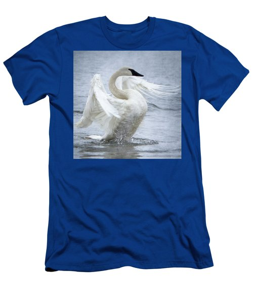 Trumpeter Swan - Misty Display 2 Men's T-Shirt (Athletic Fit)