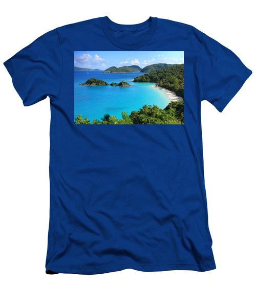 Trunk Bay St. John Men's T-Shirt (Athletic Fit)