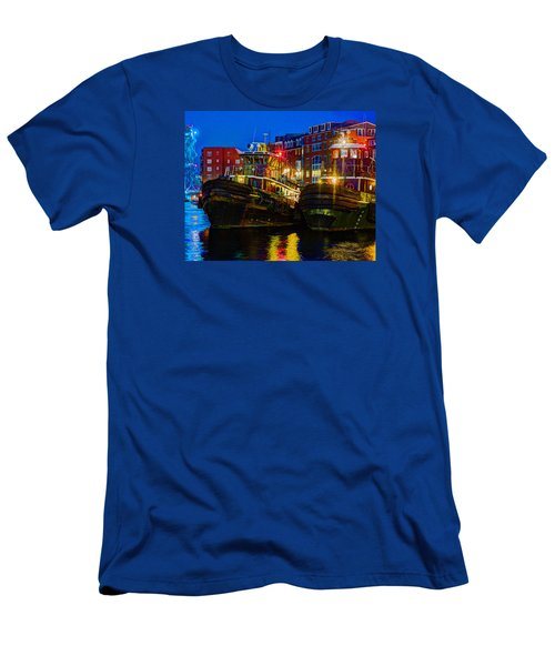 Tug Boat Alley 026 Men's T-Shirt (Athletic Fit)