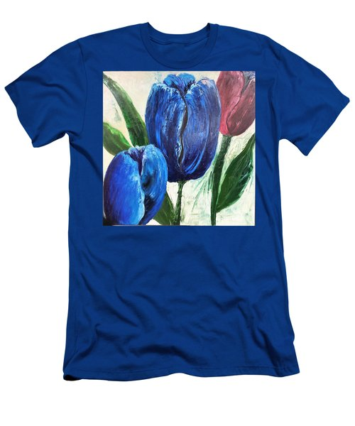Tulips Large Oil Flowers Men's T-Shirt (Athletic Fit)