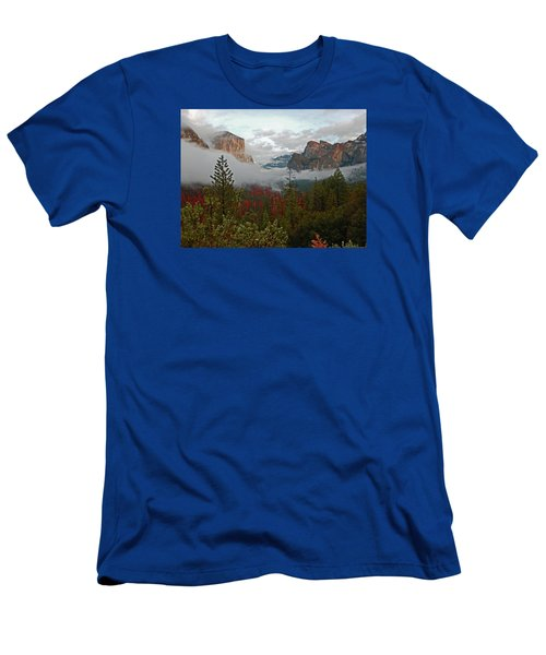 Men's T-Shirt (Athletic Fit) featuring the photograph Tunnel View 12 2016 by Walter Fahmy