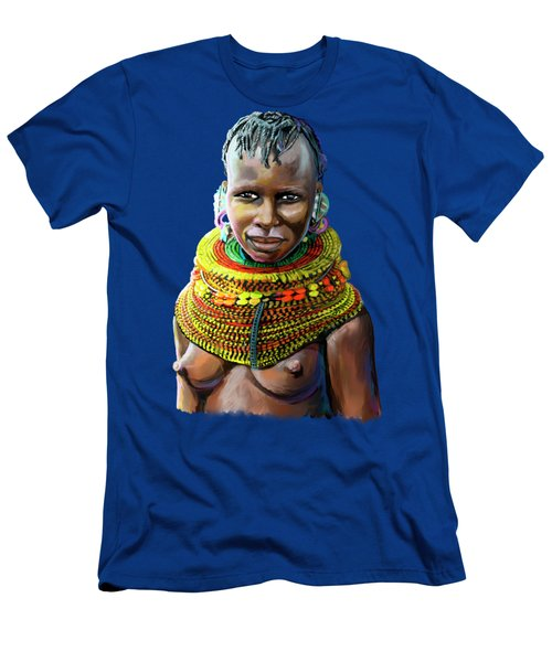 Turkana Girl Men's T-Shirt (Athletic Fit)