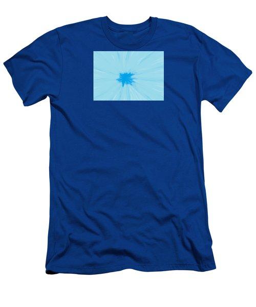Turquoise Flower Abstract Men's T-Shirt (Slim Fit) by Linda Velasquez