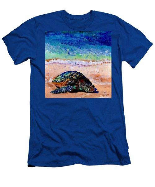 Turtle At Poipu Beach 9 Men's T-Shirt (Athletic Fit)