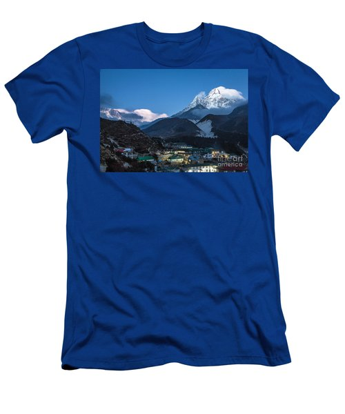 Twilight Over Pangboche In Nepal Men's T-Shirt (Athletic Fit)