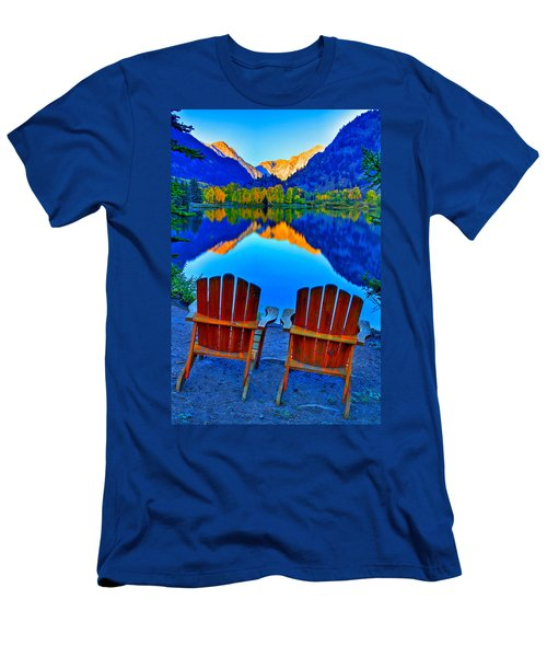 Two Chairs In Paradise Men's T-Shirt (Slim Fit) by Scott Mahon
