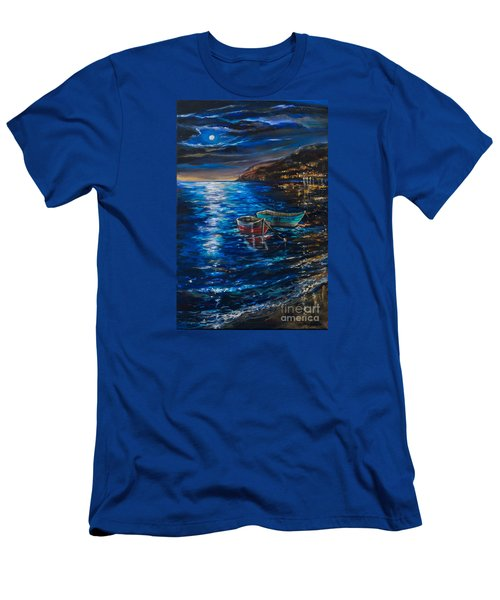 Two Dinghies Men's T-Shirt (Slim Fit) by Linda Olsen
