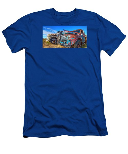 Two Trucks Men's T-Shirt (Athletic Fit)