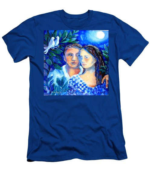 Two Turtle Doves  Men's T-Shirt (Slim Fit) by Trudi Doyle