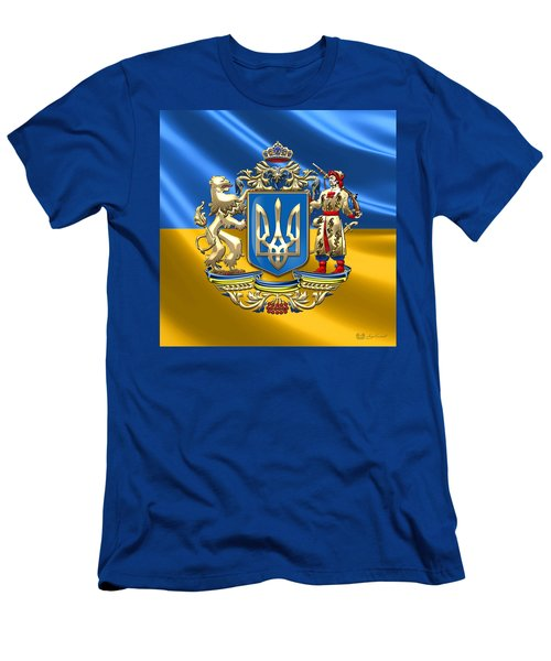 Ukraine - Greater Coat Of Arms  Men's T-Shirt (Athletic Fit)